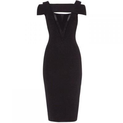 ダンセル Damsel in a Dress レディース ワンピース ミドル丈 ワンピース・ドレス Miren Shimmer Knitted Midi Dress Black