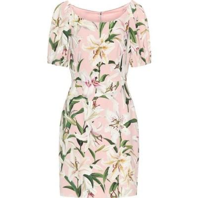 ドルチェ&ガッバーナ Dolce & Gabbana レディース ワンピース ワンピース・ドレス floral stretch-crepe dress Gigli Fdo. Rosa
