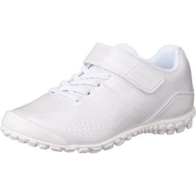[アサヒ] スニーカー運動靴 通学 反射 ガチ強シリーズ J004 ホワイト/ホワイト 24 cm 2E