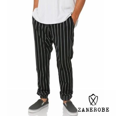 ZANEROBE ゼインローブ Sureshot Stripe Mens Jogger Pant BLACK MILK ブラック ミルク ストライプ ジョガーパンツ デニム トラック パンツ 大きいサイズ メンズ