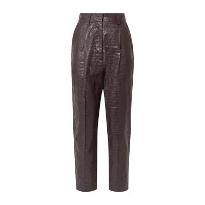ブーフィレ BEAUFILLE パンツ ダークブラウン 2 リネン 100% / ポリウレタン パンツ