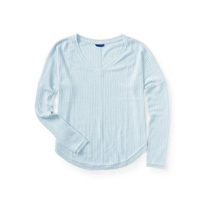 Aeropostale Womens Incredibly Soft LS Thermal Sweater, Blue, X-Large並行輸入品 送