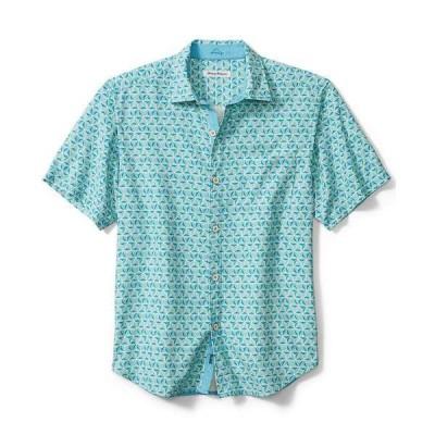 トッミーバハマ シャツ トップス メンズ Men's Costa Geometric Short-Sleeve Shirt Riviera Azure
