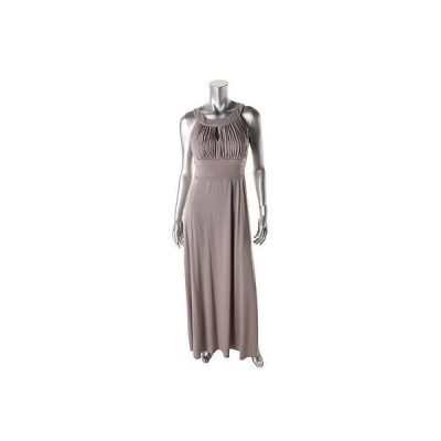 ドレス 女性  海外セレクション Sangria 7778 レディース グレー Matte Jersey Pleated Empire Evening ドレス Gown 10