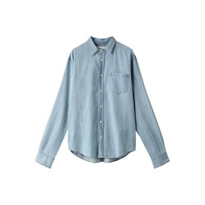 Frank&Eileen フランク&アイリーン 【MEN】LUKE ストーンウォッシュドインディゴ ブルーシャツ メンズ インディゴ XS