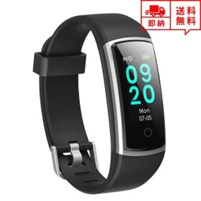 即納 iPhone Android 対応 スマートウォッチ レディース 腕時計 ブラック/シルバー IP68防水 アプリ通知 心拍計 万歩計 カロリー消費