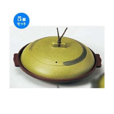 5個セット ☆ 陶板 ☆ 丸陶板(浅)18浅皿うぐいす [ 195 x 70mm・内寸170 x 17mm ] 【料亭 旅館 和食器 飲食店 業務用 】