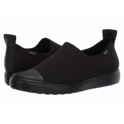 ECCO エコー レディース 女性用 シューズ 靴 スニーカー 運動靴 Soft 7 GTX Slip-On Black/Black/Black【送料無料】