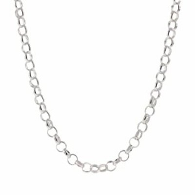 925 Sterling Silver Nickel-Free 3.2MM Rolo Round Cable Link Chain - Yellow or Silver (White, 16)