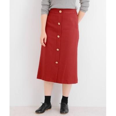 【マリン フランセーズ/LA MARINE FRANCAISE】 マットクロス/チェック フロントボタンスカート