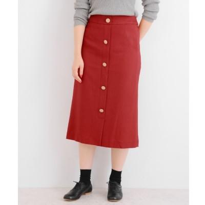 【ニーム/NIMES】 マットクロス/チェック フロントボタンスカート