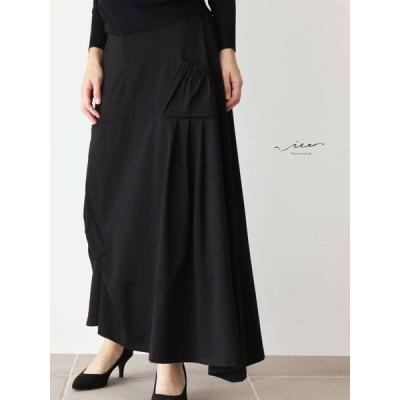Vieo 流れるラインの美しさスカートゆったり レディース Vieo ヴィオ きれいめ シンプル 大人 上品 40代 50代 60代