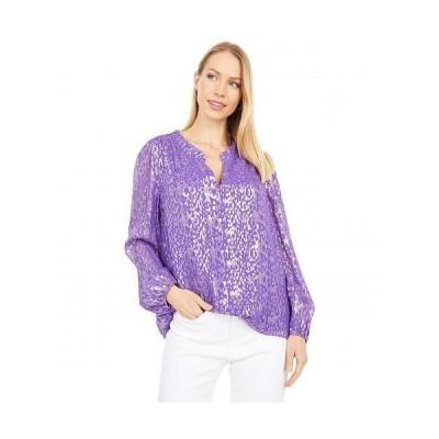 Lilly Pulitzer リリーピューリッツァー レディース 女性用 ファッション ブラウス Giana Silk Top - Concord Purple Wildside Metallic Clip