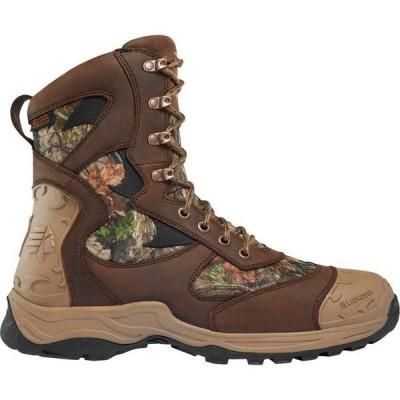 ラクロス メンズ ブーツ・レインブーツ シューズ LaCrosse Men's Atlas 8'' Mossy Oak Break-Up Country 1200g Waterproof Hunting Boots