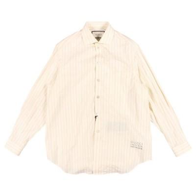 GUCCI(グッチ) 長袖シャツ 574508 オフホワイト x ブラック 50 25167 【A25170】