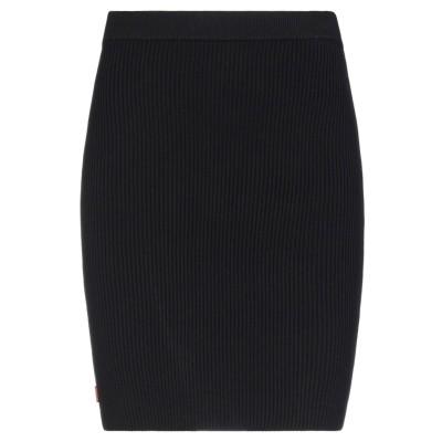 GCDS ひざ丈スカート ブラック XS レーヨン 70% / ポリエステル 30% ひざ丈スカート