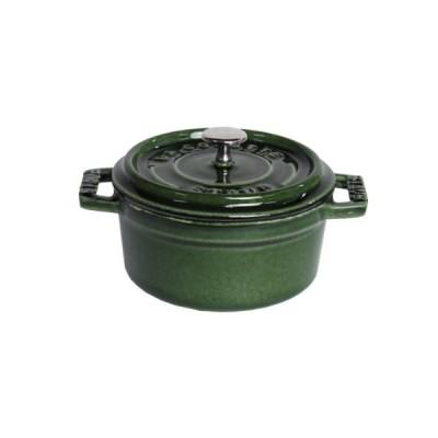 ストウブ staub ミニ ココット ラウンド 10cm バジルグリーン (マジョリカグリーン) 鍋 並行輸入品