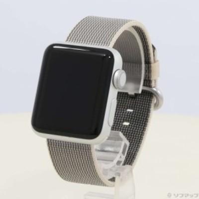 (中古)Apple Apple Watch Series 2 38mm シルバーアルミニウムケース パールウーブンナイロン(349-ud)