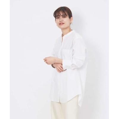 【ルージュ・ヴィフ ラクレ】 スタンドカラーシャツ レディース ホワイト F Rouge vif la cle