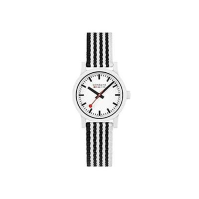 特別価格Mondaine Official Swiss Railways Essence Watch   32 mm Black&White Striped 好評販売中
