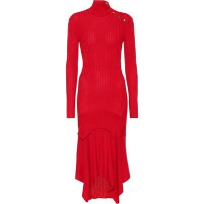 ステラ マッカートニー Stella McCartney レディース ワンピース ワンピース・ドレス Wool and silk-blend dress Lover Red