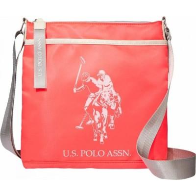 ユーエスポロアッスン U.S. POLO ASSN. ユニセックス ショルダーバッグ バッグ Nylon Dhm Crossbody Neon Pink