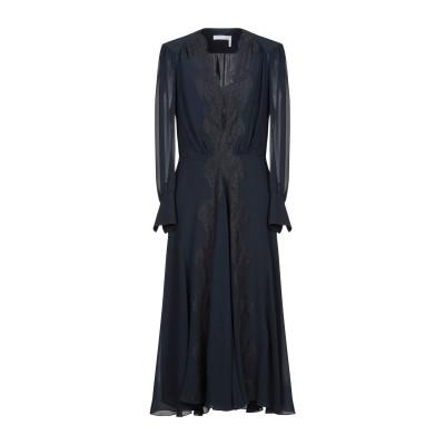 クロエ CHLOÉ 7分丈ワンピース・ドレス ダークブルー 34 シルク 100% 7分丈ワンピース・ドレス
