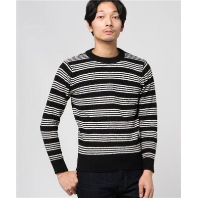 STYLEBLOCK / ボーダークルーネックセーター MEN トップス > ニット/セーター
