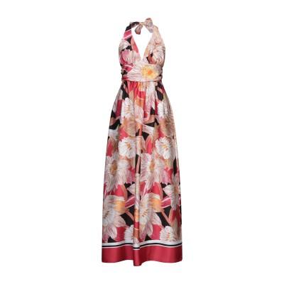 LANACAPRINA ロングワンピース&ドレス レンガ 44 ポリエステル 100% ロングワンピース&ドレス