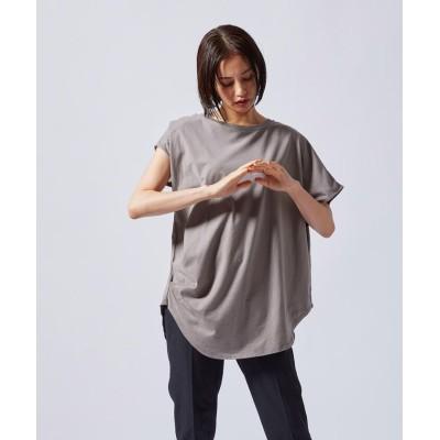 【ロートレ・アモン】 アシンメトリーデザインTシャツ《洗濯機で洗える》 レディース グレー系その他 9号 LAUTREAMONT