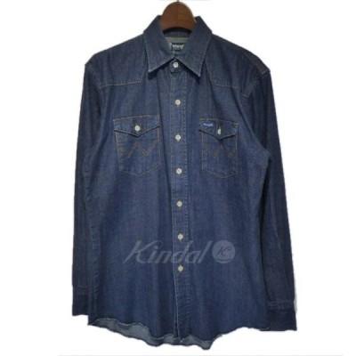 【10月5日値下】Wrangler×soe shirts デニムウエスタンシャツ インディゴ サイズ:0(S) (栄店)