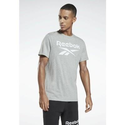 リーボック Tシャツ メンズ トップス GRAPHIC SERIES REEBOK STACKED T-SHIRT - Print T-shirt - grey