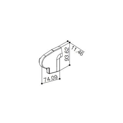 前枠コーナーキャップF型用(HH2K-31223) YKK テラス テラス屋根 アルミテラス アルミ屋根 ATC YKKテラス屋根 プリミテラス