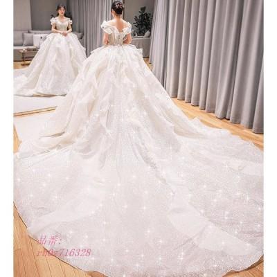 ウエディングドレス 安い 花嫁 ドレス 二次会 プリンセス dress 2020 wedding 披露宴 ブライダル 新品 大きいサイズ ロングドレス エンパイア 結婚式