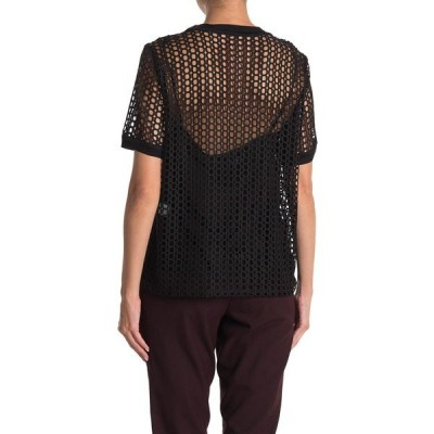 エリータハリ レディース シャツ トップス Java Eyelet Lace T-Shirt BLACK