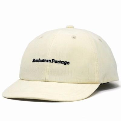 キャップ コーデュロイ マンハッタンポーテージ Manhattan Portage メンズ レディース ミジンコール 細いコーデュロイ 帽子 白 オフホワイト