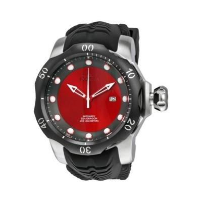 腕時計 インヴィクタ Invicta Venom オートマチック レッド and グレー ダイヤル ブラック シリコン ストラップ メンズ 腕時計 19309