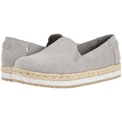 TOMS Palma レディース ローファー Drizzle Grey Suede