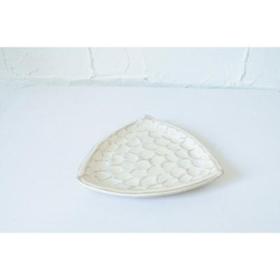 小鯖美保子 三角小皿 直径約11cm ホワイト 【ホーム】 【食器】