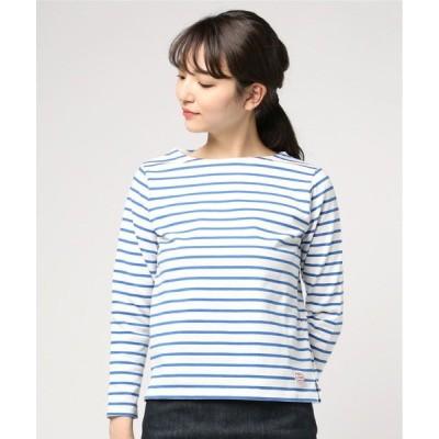 tシャツ Tシャツ MACOBER マリンボーダーバスクシャツ9分袖(FEMME)