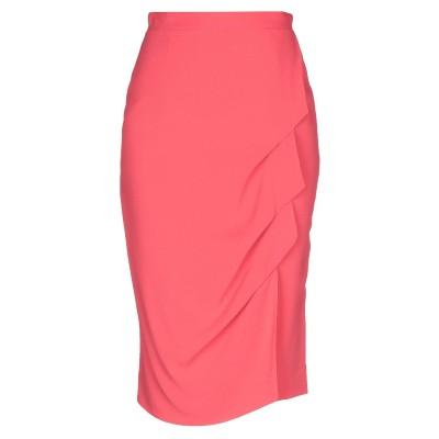 MARIA GRAZIA SEVERI 7分丈スカート コーラル 40 レーヨン 55% / アセテート 45% 7分丈スカート