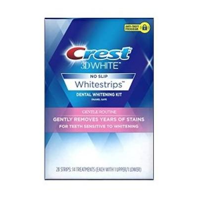 敏感歯用 クレスト 3D ホワイト ジェントリーリムーブ 14回分 Crest 3D White Whitestrips Gentle Routine Teeth Whitening Kit 14 Treat