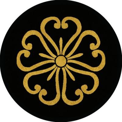 家紋シール 蕨桜紋 直径4cm 丸型 4枚セット KS44M-3108