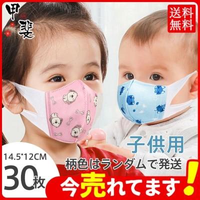 マスク 不織布 子供 幼児 使い捨て 小さめ ベビー 30枚 子ども キャラクター 立体 3D キッズ 男の子 女の子 飛沫防止 PM2.5 花粉対策 防護対策 風邪予防
