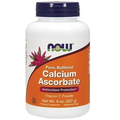 ピュア、緩衝済カルシウムアスコルビン塩酸、ビタミンCパウダー、8オンス (227 g)