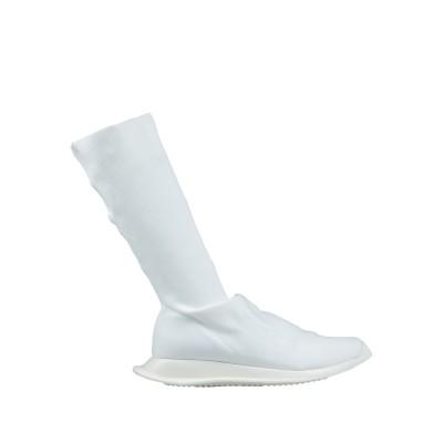 ダークシャドウ バイ リック オウエンス DRKSHDW by RICK OWENS ブーツ ホワイト 40 紡績繊維 ブーツ