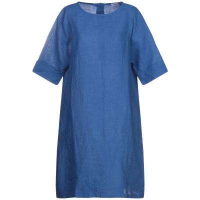 LFDL ミニワンピース&ドレス ブルー XS リネン 100% ミニワンピース&ドレス
