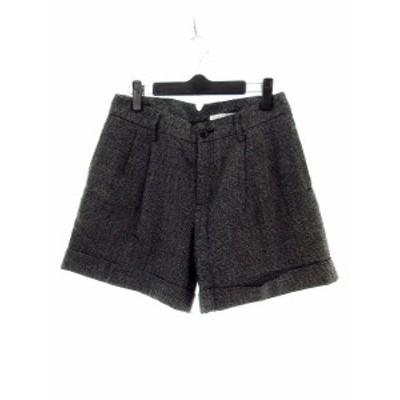 【中古】イエナ IENA パンツ ショート ショーパン 総柄 38 黒 ブラック /M2 レディース