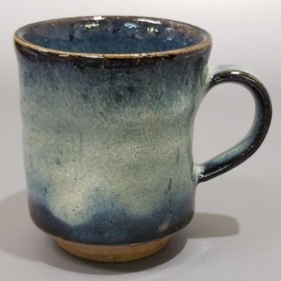 浅17)萩焼 山根清玩 青萩マグカップ コーヒーカップ 珈琲器 未使用新品 同梱歓迎