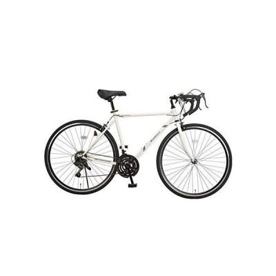 MONOFIELD ロードバイク 700C ホワイト シマノ製21段変速 サムシフター 2WAYブレーキシステム搭載
